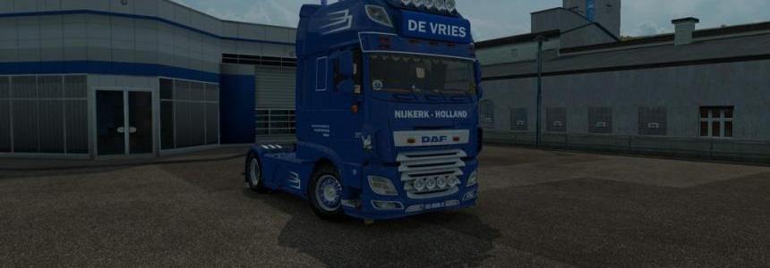 DAF E6 De Vries + Trailer