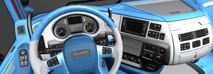 Daf euro 6 blue and white interior 1.22