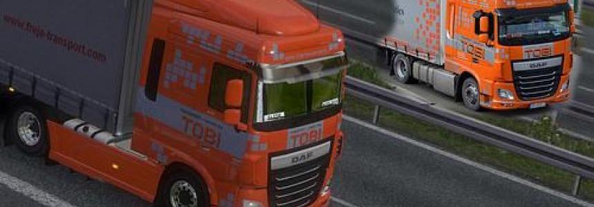 DAF XF Euro6 TOBI Transport Skin 1.22