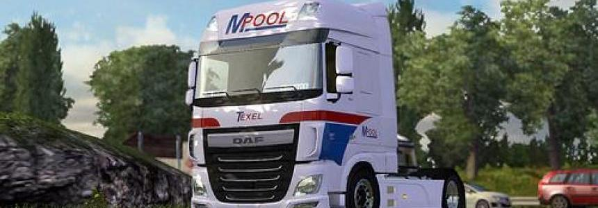 DAF XF M.Pool - Schouwstra Transport Skin 1.22