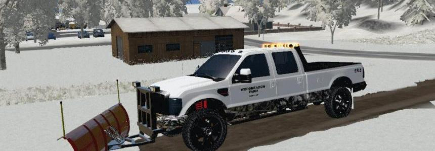 F250 Plow Truck with LED Lightbar v1