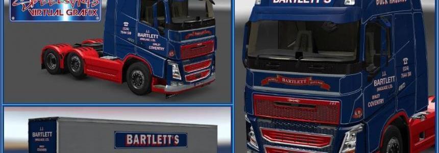 JJ Bartlett Volvo FH & Trailer