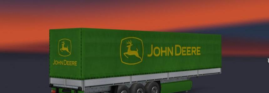 John Deere Magnum skin and trailer