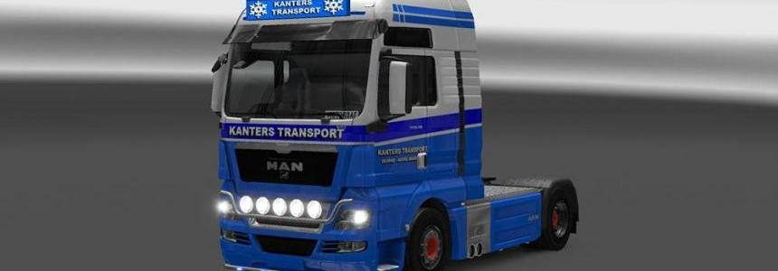 MAN TGX Kanters Transport Skin & Lightbox