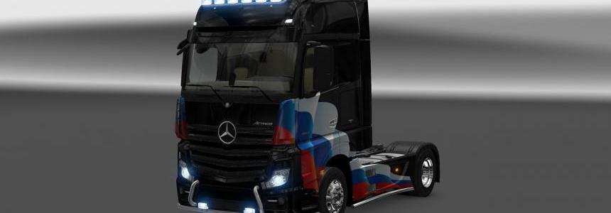 Mercedes Actros MP4 Russia Flag Skin 1.22