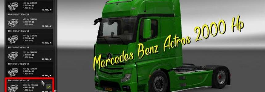 Mercedes Benz Actros 2000 Hp 1.22