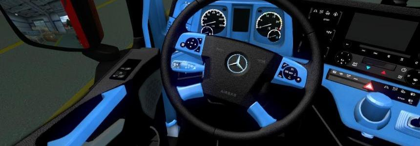 Mercedes new actros blue-black interior 1.22