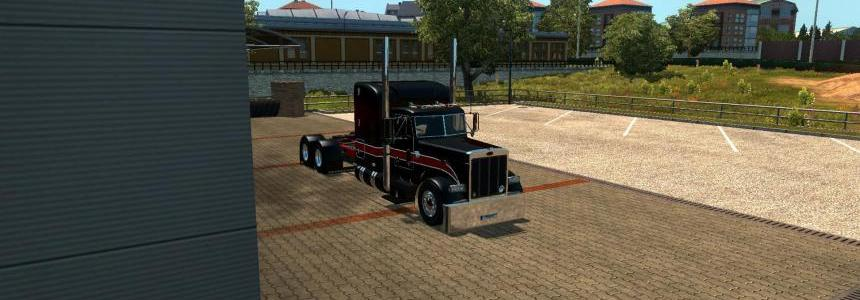 Peterbilt 379 Black & Red Skin 1.22