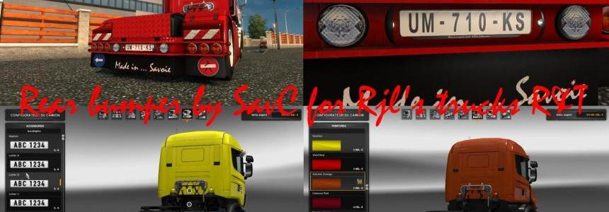 Rear bumper by savs for scania rjl r&t v1