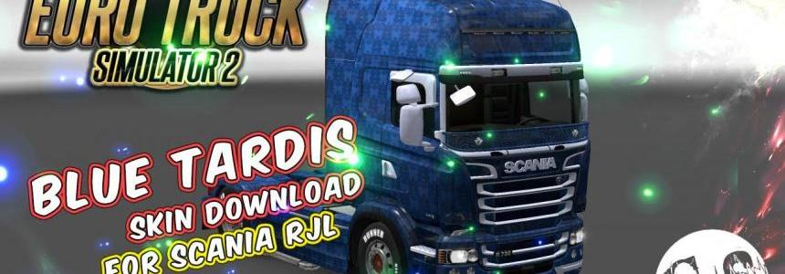 Scania RJL Blue Tardis Skin