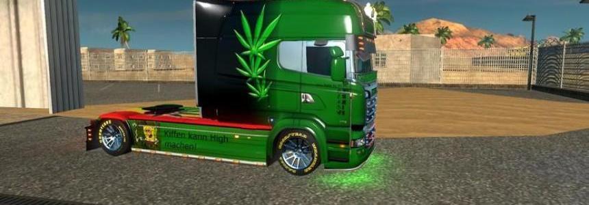 Scania RJL Cannabis Skin 1.22.x