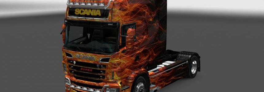 Scania RS RJL Fire Skin 1.22