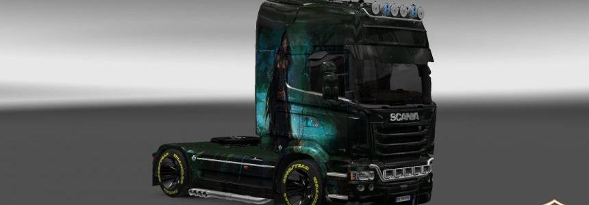 Scania Streamline Girl v3 Skin 1.22