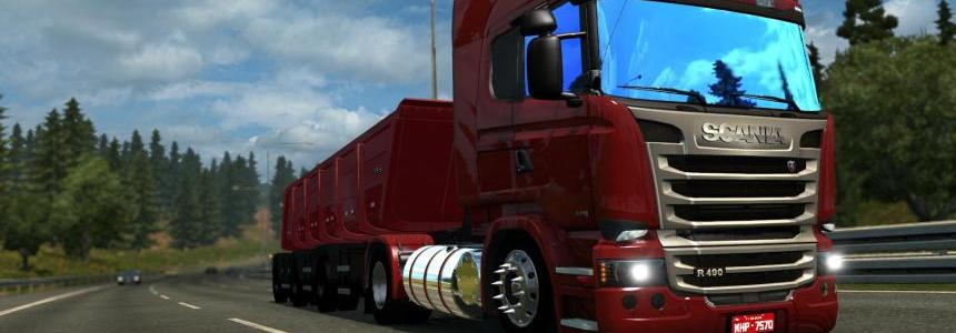 SCANIA STREAMLINE + REBOQUE 1.22.x