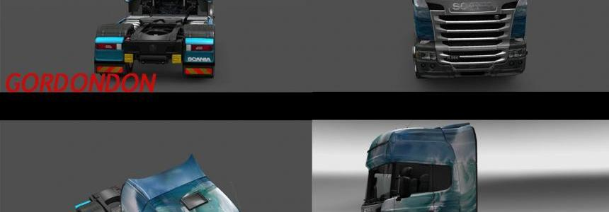 Scania Streamline Sea Wave Skin 1.22