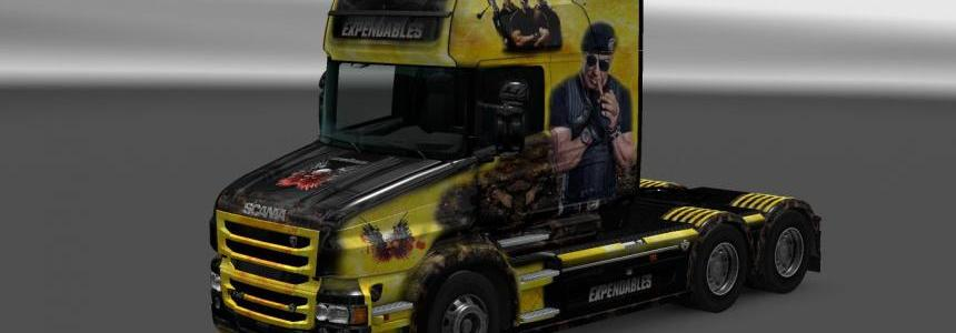 Scania T RJL The Expendables Skin 1.22
