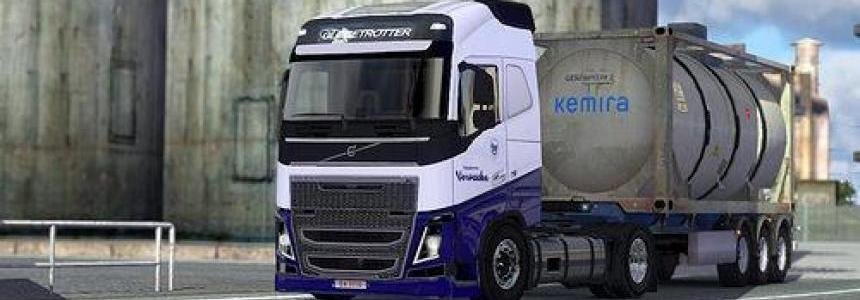 Skin Pack Vervaeke Transport for Volvo FH 2009, FH 2012 1.22.x