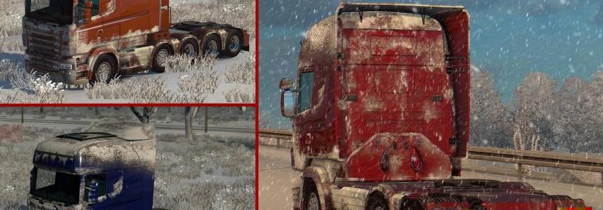 Snow Skin for Scania R-Streamline by RJL & SCS