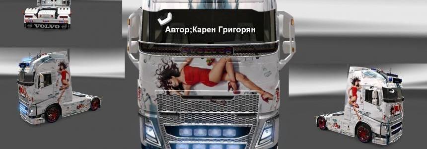 Volvo FH 2013 Penelopa Cruze v2 Skin 1.22