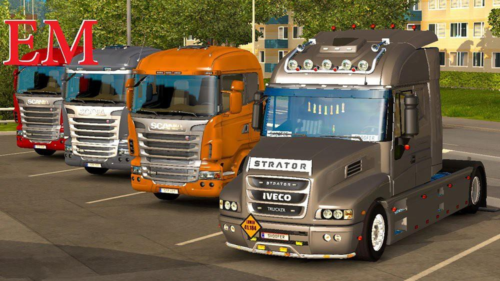 Iveco strator and volvo fh 2013 tuning euro truck simulator 2 mods - Iveco Strator And Volvo Fh 2013 Tuning Modhub Us
