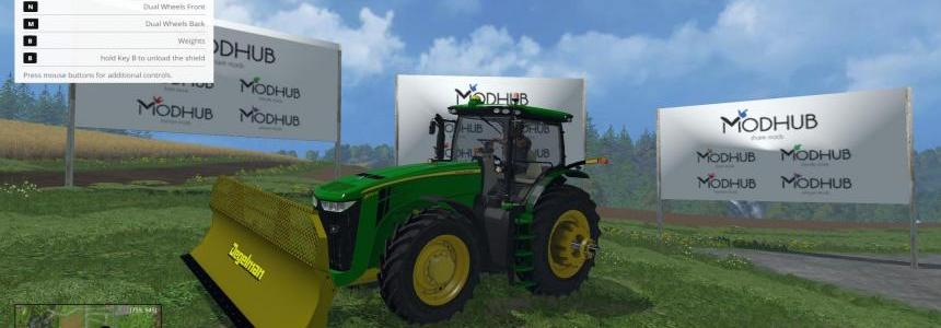 JohnDeere 8370R and Degelman Silage Blade v1.0