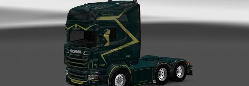 Scania RS RJL Zelen Skin