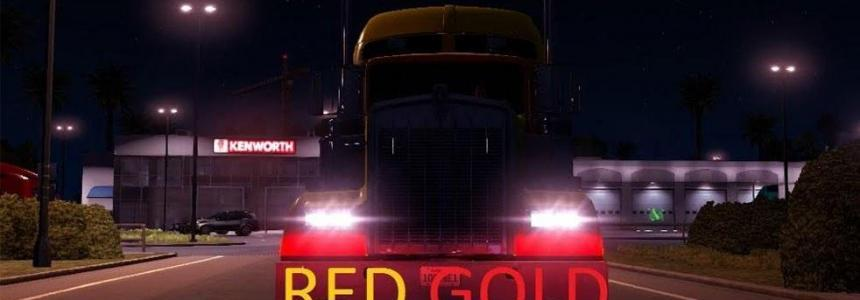 34 TRUCK HALOGEN RED-GOLD dipped and main beam