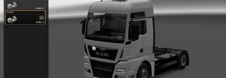 8 Gears gearbox for Man TGX Euro 6 by Madster