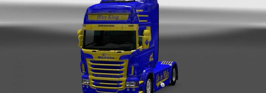 Scania RS RJL Blue King Skin