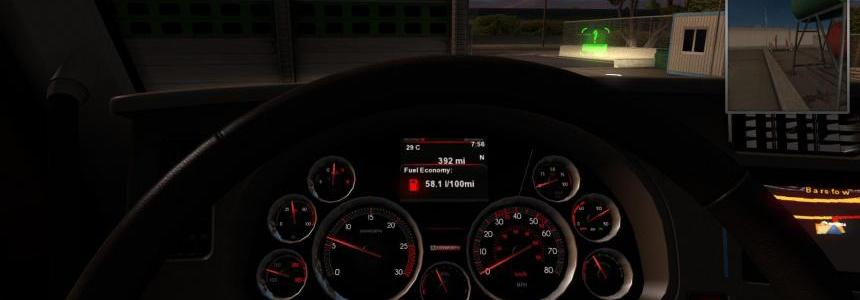 Custom Red-Black Sport Gauges for Kenworth trucks v1.0