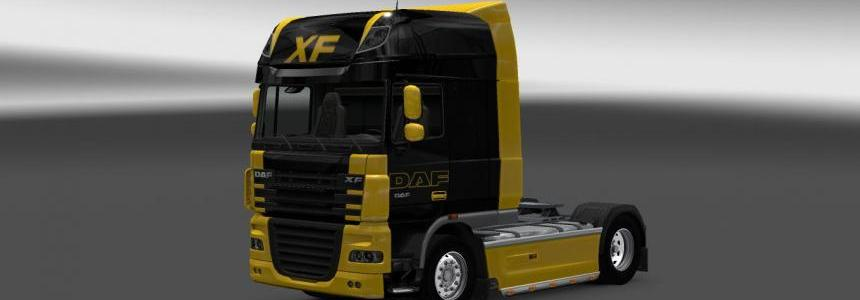 DAF XF Black and Yellow Skin