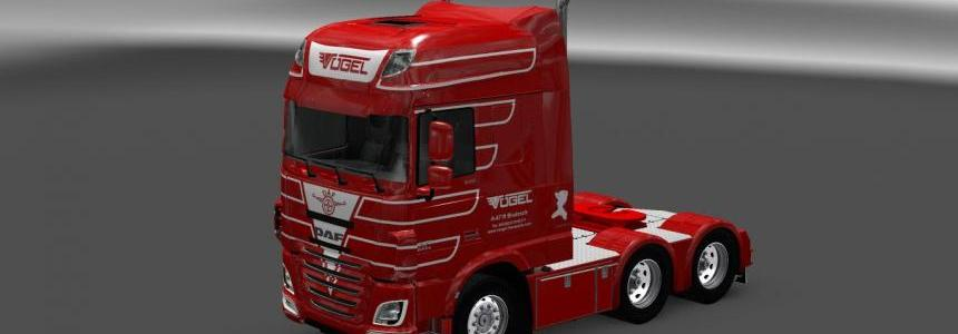 Daf XF Euro6 Vogel Transport Skin Pack