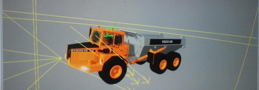 Dump Truck VOLVO A25  for modders