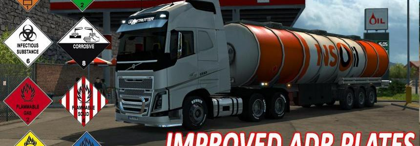 Improved ADR plates for ETS2 v1.0