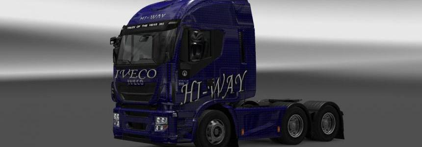 Iveco Hi-Way Blue Carbon Skin