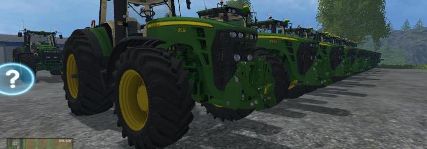 John Deere 10 Tractors Pack v1.0