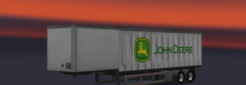 John Deere Curtain trailer