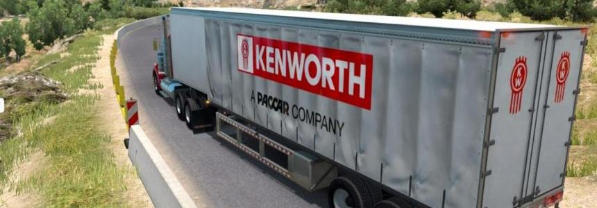 Kenworth Curtain trailer