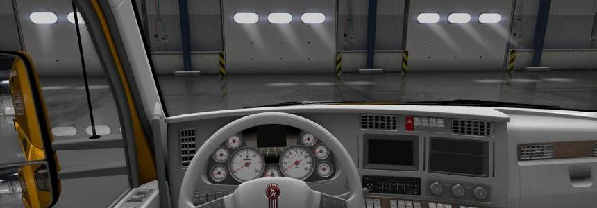 Kenworth T680 White Gauges + Interior v1.2