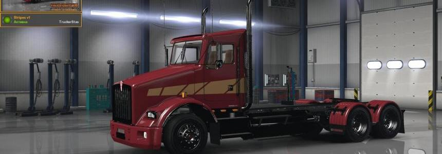 Kenworth T800 Stripes v1 Skin