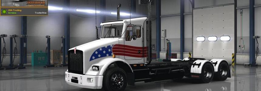 Kenworth T800 USA Trucking Skin