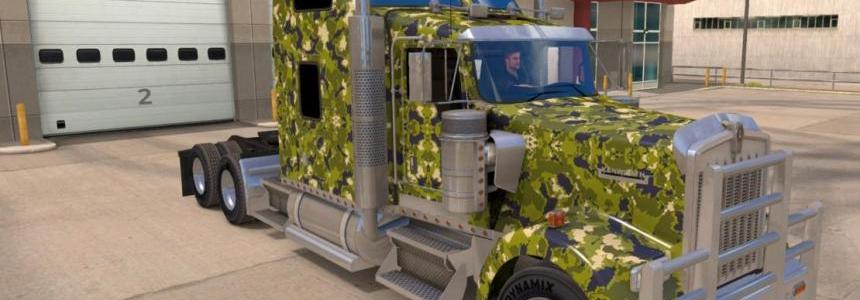 Kenworth W900 Army Camo skin