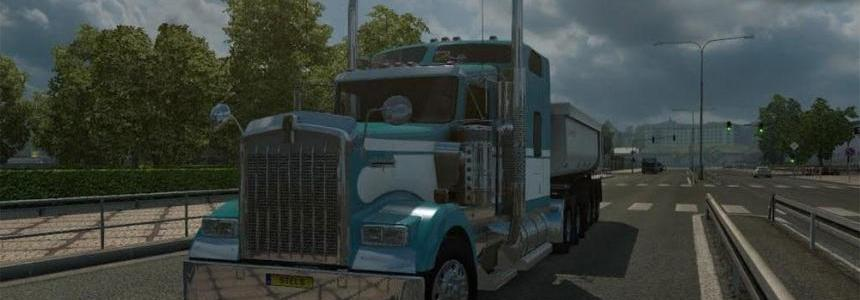 Kenworth w900 fixed mirror + wing v1