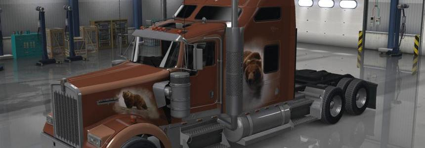 Kenworth W900 the Bears Den Khross Custom Skin