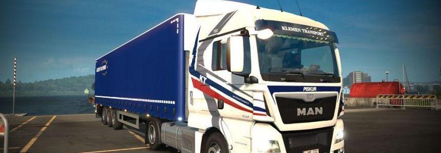 Klemen Transport MAN TGX Euro 6 Combo skin pack
