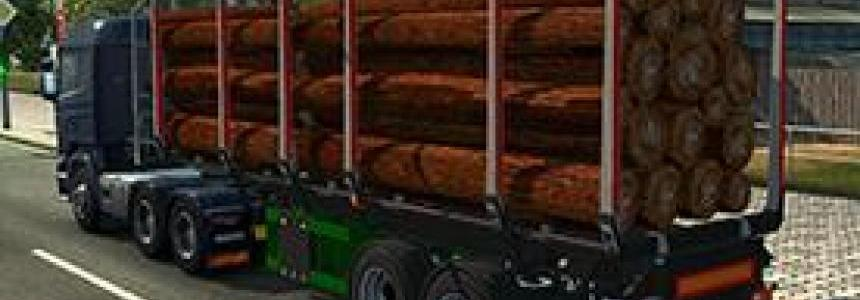 Logs trailer converted from ets2 to ats