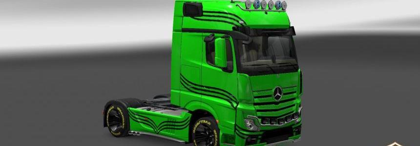 Mercedes Actros 2014 Lines Skin