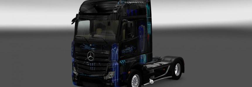 Mercedes Actros MP4 Blue Monster Skin