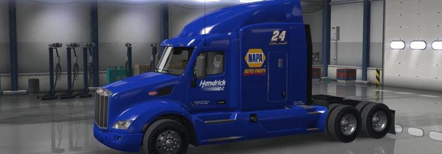 NASCAR Chase Elliott 2016 NAPA Hauler with extra logos