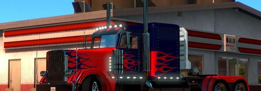Optimus Prime Skin for Peterbilt 389